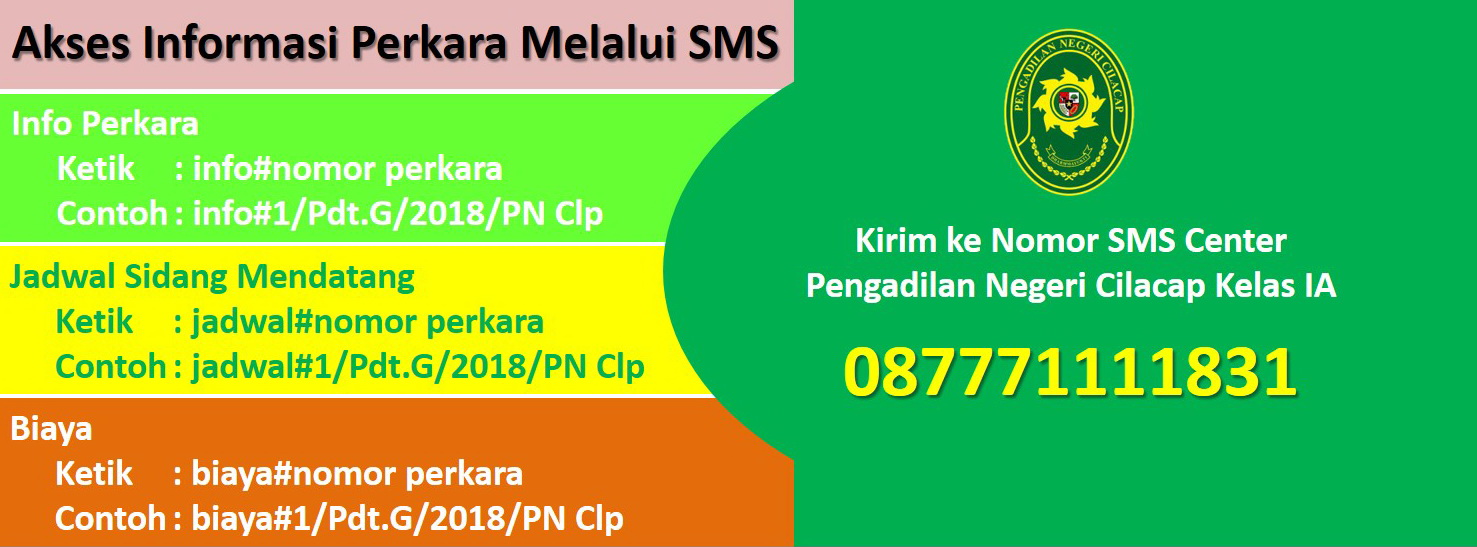 sms center pncilacap